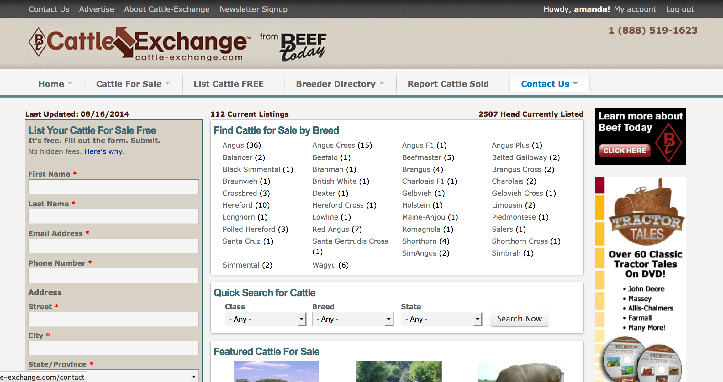 Cattle Exchange - A Drupal 7 Website